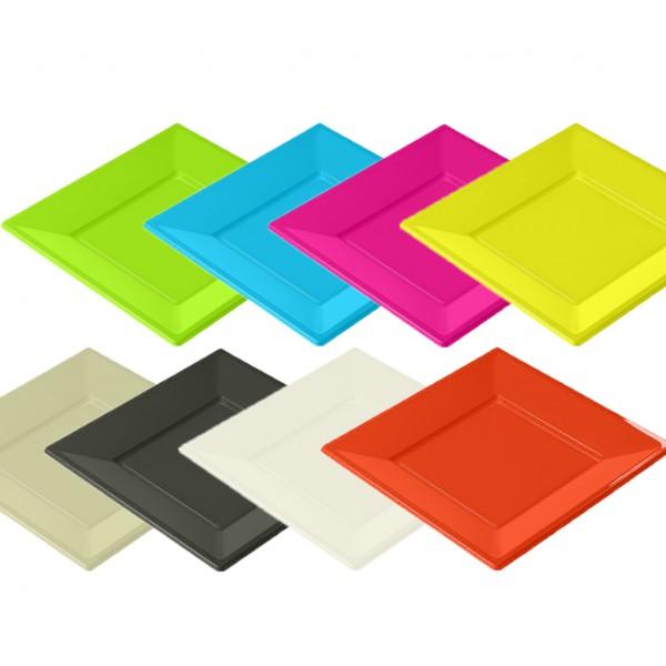 assiettes plastique en couleur la caverne. Black Bedroom Furniture Sets. Home Design Ideas