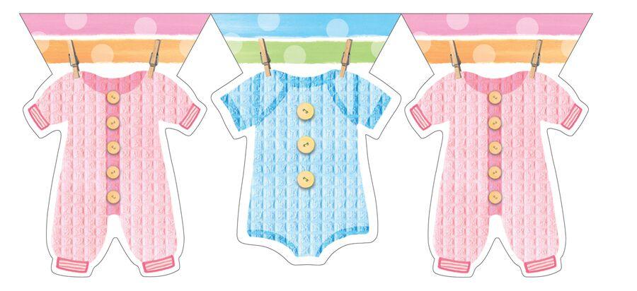 Guirlande baby clothes baby shower la caverne - Guirlande baby shower ...
