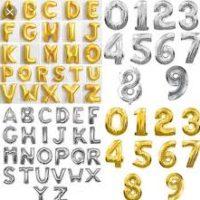 Ballons chiffres et lettres